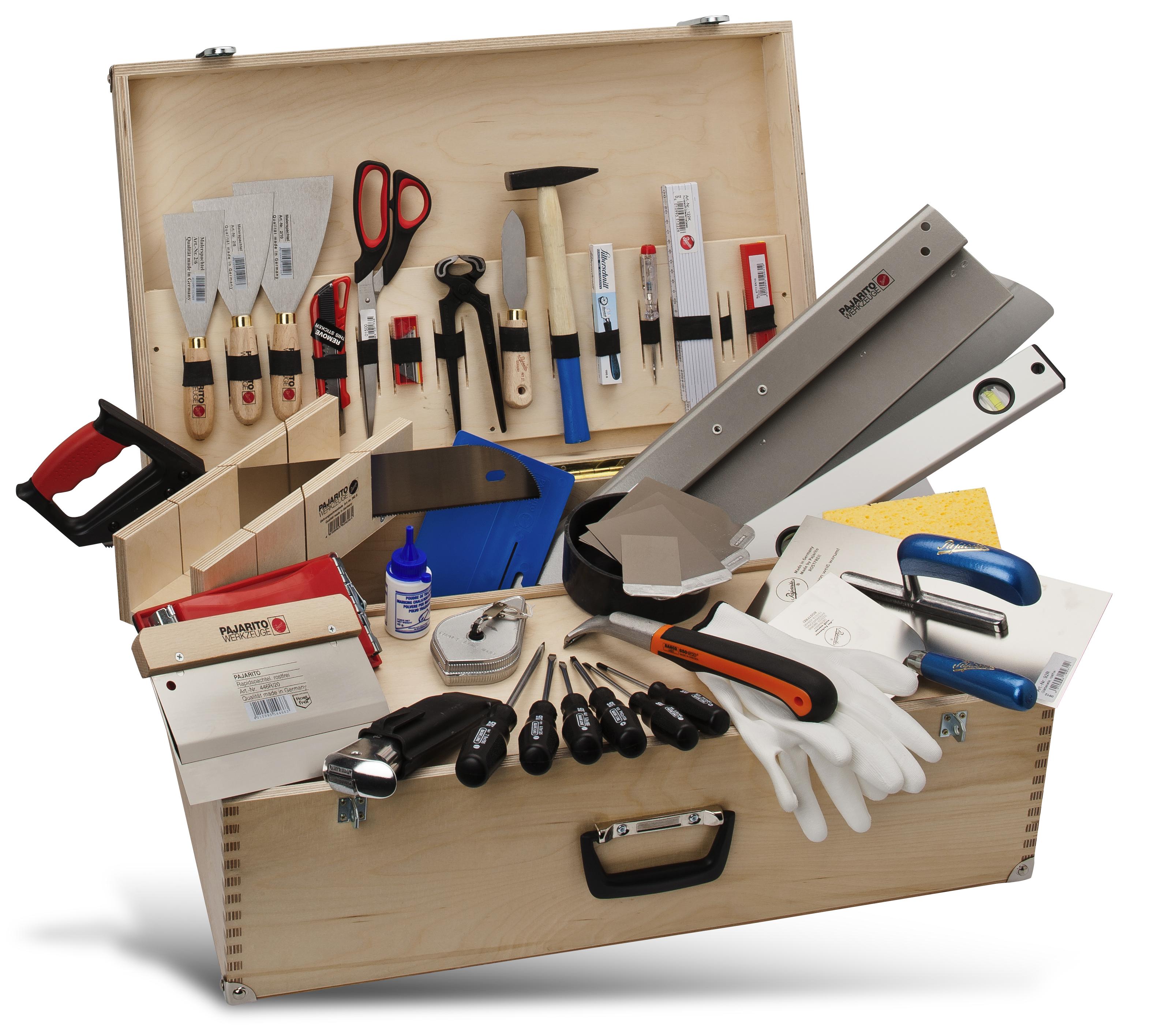 Werkzeugkasten für Malerarbeiten Pajarito
